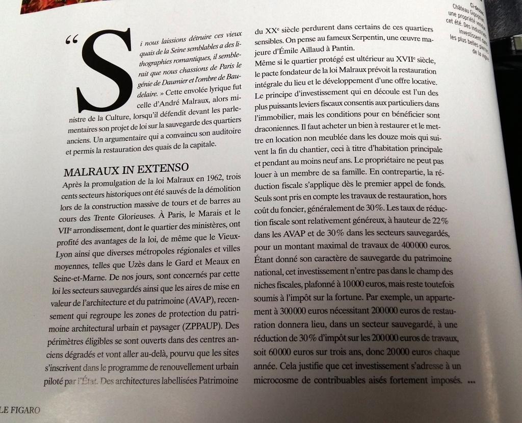 Propriétés Le Figaro – Spécial Patrimoine