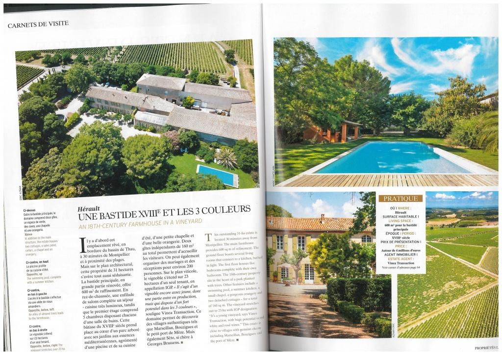 Trois propriétés Vinea Transaction élues dans le top 5 des domaines viticoles de rêve 2018 par Propriétés Le Figaro