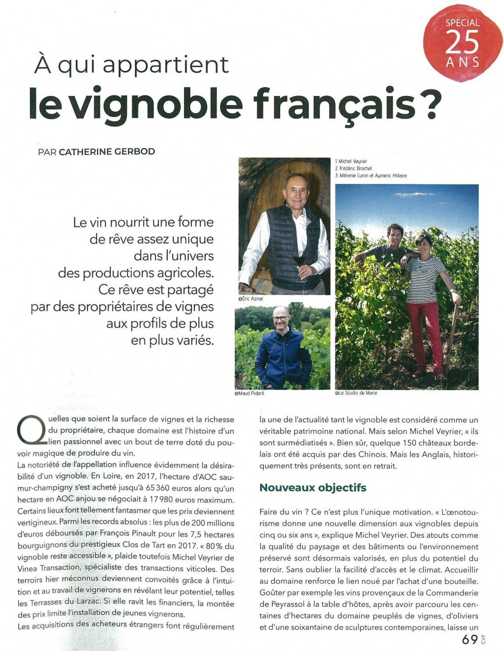 Cuisine et vins – A qui appartient le vignoble français?