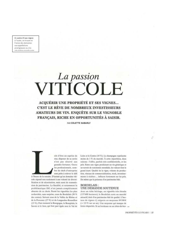 La passion viticole